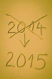 2015 Felices Año Nuevo Imágenes de archivo libres de regalías