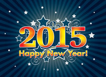 2015 Felices Año Nuevo Foto de archivo libre de regalías