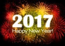 2017 Felices Año Nuevo Fotos de archivo