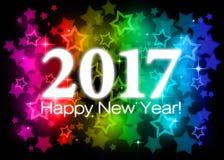 2017 Felices Año Nuevo Imágenes de archivo libres de regalías