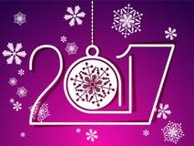 2017 Felices Año Nuevo ilustración del vector