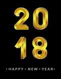 2018 Felices Año Nuevo Fotos de archivo