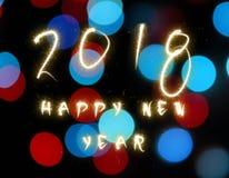 2018 Felices Año Nuevo Imágenes de archivo libres de regalías