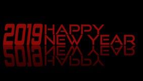 2019 Felices Año Nuevo - 3D rojo 2019 imagen de archivo