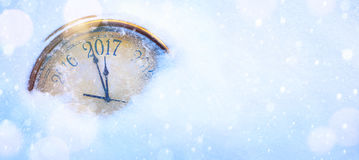 Felices Año Nuevo de fondo de la víspera del arte 2017 Imagenes de archivo