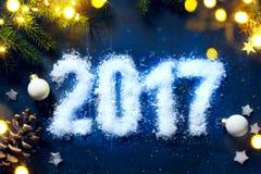 Felices Año Nuevo de fondo de la víspera del arte 2017 Imágenes de archivo libres de regalías