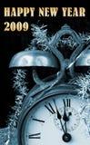 Felices Año Nuevo de saludos 2009 Foto de archivo libre de regalías