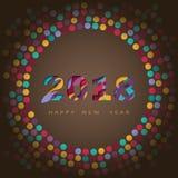 2018 Felices Año Nuevo, diseño abstracto 3d, ejemplo del vector Fotografía de archivo