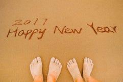 2017 Felices Año Nuevo a los amantes Imagenes de archivo