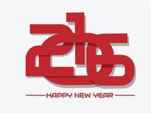 2016 FELICES AÑO NUEVO ROJAS ENTRECRUZADAS Imagenes de archivo
