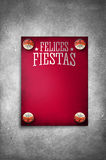 Felices Fiestas - Happy Holidays Vintage spanish text Stock Images