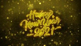 2021 Felices A?o Nuevo desean la tarjeta de felicitaciones, invitaci?n, fuego artificial de la celebraci?n libre illustration