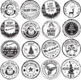 Felices sellos de Navidad Fotografía de archivo libre de regalías
