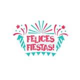 Felicesfiesta's - Gelukkige vakantie aan Spaanse taal royalty-vrije illustratie