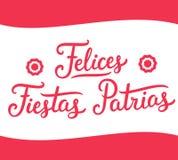 Felicesfiesta's Patrias Peru Stock Illustratie