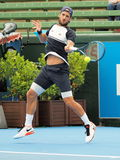Feliciano Lopez forehand Stock Images