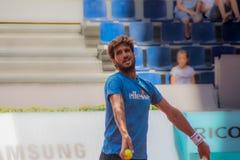 Feliciano Lopez jouant le tennis Photographie stock libre de droits