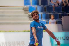 Feliciano Lopez playing tennis Royalty Free Stock Photography