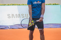 Feliciano Lopez playing tennis Royalty Free Stock Photos