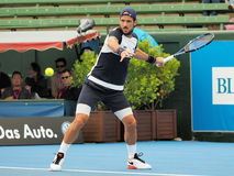 Feliciano Lopez of Spain ready for forehand Royalty Free Stock Photos