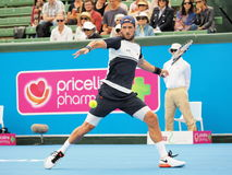 Feliciano Lopez of Spain wound up for a forehand Royalty Free Stock Image