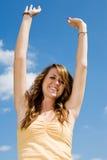 Felicidad adolescente de la muchacha Foto de archivo libre de regalías