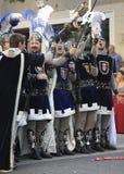 Felicidad cristiana de los soldados Foto de archivo libre de regalías