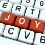 Felicidad de Joy Key Shows Fun Or Imagenes de archivo
