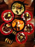 Felicidad de la cena de los Ramen foto de archivo libre de regalías