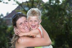 Felicidad de la familia Fotos de archivo