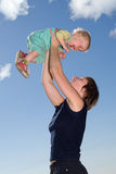 Felicidad de la maternidad Fotos de archivo