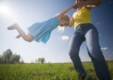 Felicidad de la niñez Fotografía de archivo libre de regalías