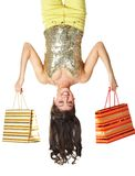 Felicidad de Shopper?s Imágenes de archivo libres de regalías