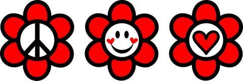 Felicidad del amor de la paz stock de ilustración