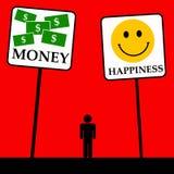 Felicidad del dinero Fotografía de archivo libre de regalías