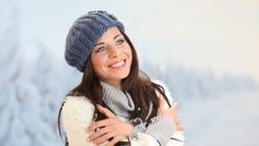 Felicidad del invierno y despreocupado almacen de metraje de vídeo
