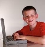 Felicidad del ordenador Imagenes de archivo
