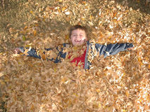 Felicidad del otoño Fotos de archivo