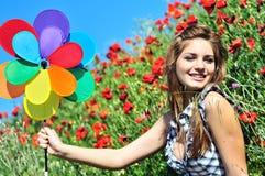 Felicidad en campo Foto de archivo libre de regalías
