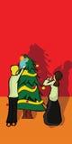 Felicidad en la Navidad Imagen de archivo libre de regalías