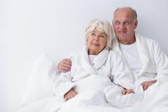 Felicidad en la relación avanzada Fotos de archivo