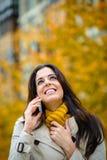 Felicidad en otoño Imagen de archivo libre de regalías