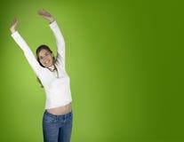 Felicidad en verde Fotos de archivo libres de regalías