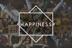 Felicidad Live Concept del sentir bien feliz de la vida Fotografía de archivo libre de regalías