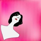 Felicidad retra (en color de rosa) Fotografía de archivo