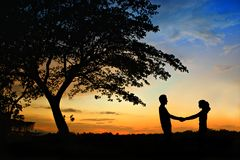 Felicidad y escena romántica Fotografía de archivo