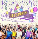A felicidade aprecia o divertimento Jolly Festive Concept imagens de stock royalty free