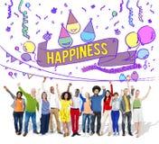 A felicidade aprecia o divertimento Jolly Festive Concept imagem de stock