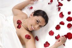 Felicidade da noiva fotografia de stock royalty free