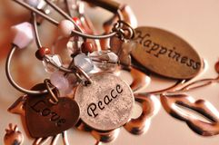 Felicidade da paz do amor Imagens de Stock